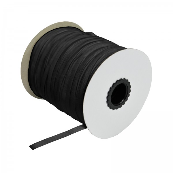Meterware 6mm Elastikband Schwarz