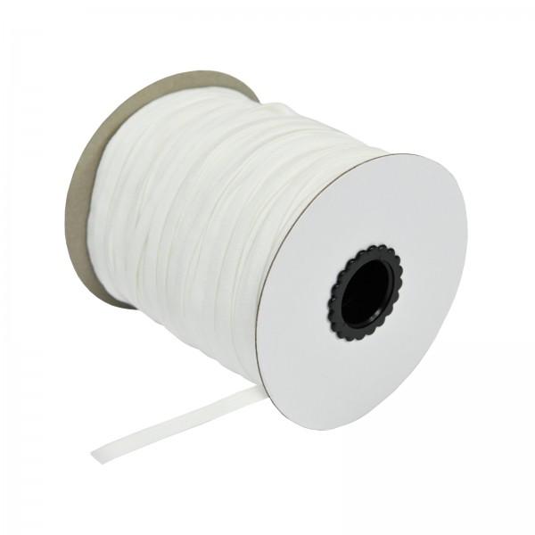Meterware 5mm Elastikband Weiß